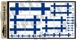 Finnish Flag - 1/72, 1/48, 1/35, 1/32 Scales - Duplicata Productions