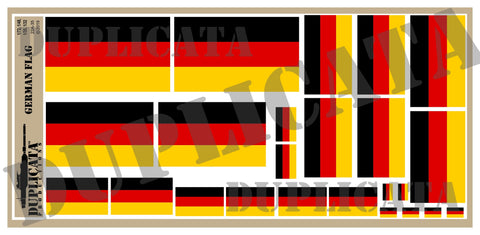 German Flag - 1/72, 1/48, 1/35, 1/32 Scales - Duplicata Productions