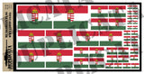 Hungarian Flag - WW2 - 1/72, 1/48, 1/35, 1/32 Scales - Duplicata Productions