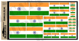 Indian Flag - 1/72, 1/48, 1/35, 1/32 Scales - Duplicata Productions
