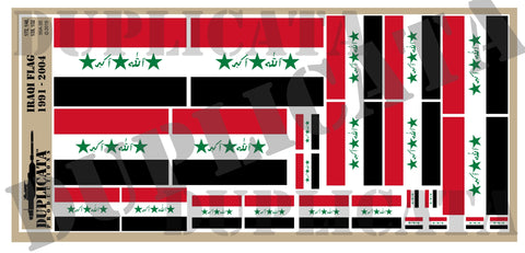 Iraqi Flag (1991 to 2004) - 1/72, 1/48, 1/35, 1/32 Scales - Duplicata Productions