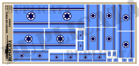 Israeli Air Force Ensign Flag - 1/72, 1/48, 1/35, 1/32 Scales - Duplicata Productions