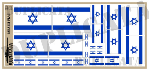 Israeli Flag - 1/72, 1/48, 1/35, 1/32 Scales - Duplicata Productions