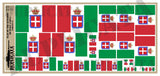 Kingdom of Italy Flag, Variant #2 - 1/72, 1/48, 1/35, 1/32 Scales - Duplicata Productions