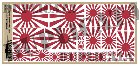 Imperial Japanese Naval Ensign Flag (1889 to 1945) - 1/72, 1/48, 1/35, 1/32 Scales - Duplicata Productions