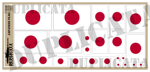 Japanese Flag - 1/72, 1/48, 1/35, 1/32 Scales - Duplicata Productions
