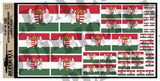 Flag of the Kingdom of Hungary  - 1/72, 1/48, 1/35, 1/32 Scales - Duplicata Productions