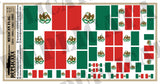 Mexican Flag (1823-1864 / 1867-1893) - 1/72, 1/48, 1/35, 1/32 Scales - Duplicata Productions