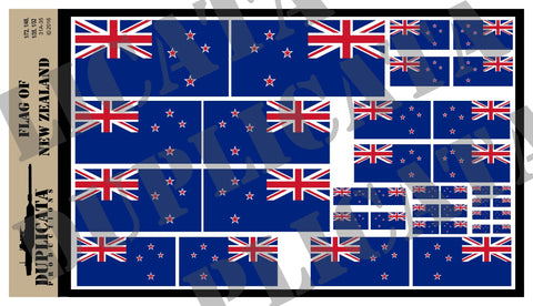 Flag of New Zealand - 1/72, 1/48, 1/35, 1/32 Scales - Duplicata Productions