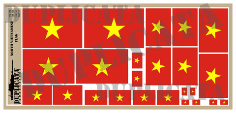 North Vietnamese Flag - 1/72, 1/48, 1/35, 1/32 Scales - Duplicata Productions
