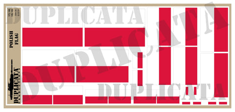Polish Flag - 1/72, 1/48, 1/35, 1/32 Scales - Duplicata Productions