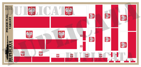 Polish Flag, Variant - 1/72, 1/48, 1/35, 1/32 Scales - Duplicata Productions