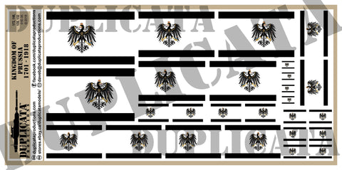 Flag of the Kingdom of Prussia (1701-1918) - 1/72, 1/48, 1/35, 1/32 Scales - Duplicata Productions