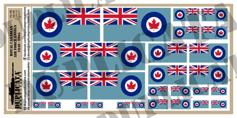 Royal Canadian Air Force Ensign Flag (1940 - 1965) - 1/72, 1/48, 1/35, 1/32 Scales - Duplicata Productions