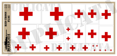 Red Cross Flag - 1/72, 1/48, 1/35, 1/32 Scales - Duplicata Productions