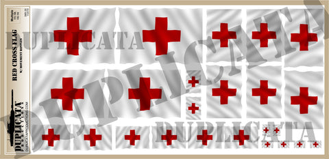 Red Cross Flag - 1/72, 1/48, 1/35, 1/32 Scales (w/Motion Ripples) - Duplicata Productions
