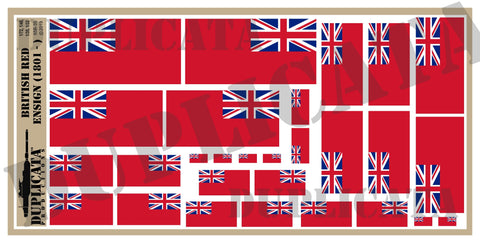 British Red Ensign Flag - WW2 - 1/72, 1/48, 1/35, 1/32 Scales - Duplicata Productions