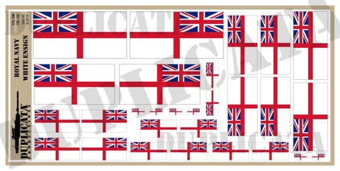 Royal Navy White Ensign Flag - 1/72, 1/48, 1/35, 1/32 Scales - Duplicata Productions
