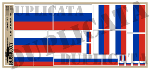 Flag of the Russian Federation - 1/72, 1/48, 1/35, 1/32 Scales - Duplicata Productions