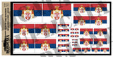 Flag of The Kingdom of Serbia - 1/72, 1/48, 1/35, 1/32 Scales - Duplicata Productions