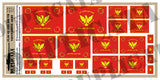 South Vietnamese Army Flag - 1/72, 1/48, 1/35, 1/32 Scales - Duplicata Productions