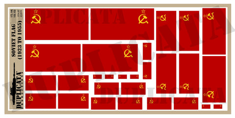 Soviet Flag (1923 to 1955) - 1/72, 1/48, 1/35, 1/32 Scales - Duplicata Productions