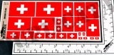 Swiss Flag - 1/72, 1/48, 1/35, 1/32 Scales - Duplicata Productions