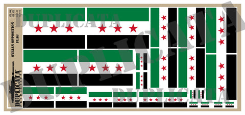Syrian Opposition Flag - 1/72, 1/48, 1/35, 1/32 Scales - Duplicata Productions