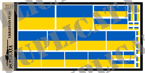 Ukrainian Flag - 1/72, 1/48, 1/35, 1/32 Scales - Duplicata Productions