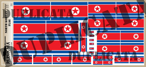 North Korean Flag - 1/72, 1/48, 1/35, 1/32 Scales - Duplicata Productions