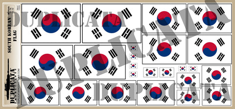 South Korean Flag - 1/72, 1/48, 1/35, 1/32 Scales - Duplicata Productions