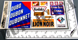 French Advertisements, Various Sizes #2 -  WW2 - 1/35 Scale (2 sheets) - Duplicata Productions