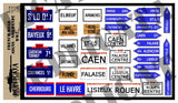 French Road Signs, Normandy -  WW2 - 1/35 Scale - Duplicata Productions