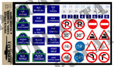 French Street Names, Numbers & Traffic Signs -  WW2 - 1/35 Scale - Duplicata Productions