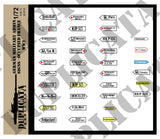 German Military Admin Signs, Occupied France -  WW2 - 1/72 Scale - Duplicata Productions