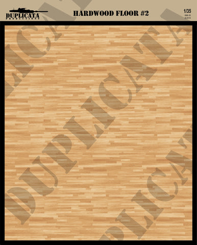 Hard Wood Floor #2 - 1/35 Scale - Duplicata Productions