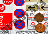 Checkpoint Signs - Iraq War - 1/35 Scale - Duplicata Productions