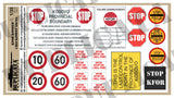 KFOR Kosovo Checkpoint Signs, Yugoslav Wars - 1/35 Scale - Duplicata Productions
