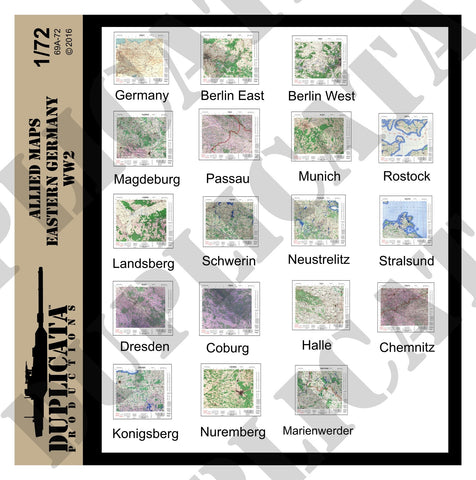 Allied Maps, Eastern Germany - WW2 - 1/72 Scale - Duplicata Productions