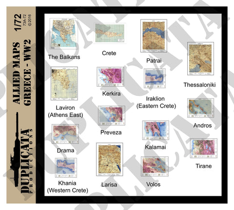 Allied Maps, Greece - WW2 - 1/72 Scale - Duplicata Productions