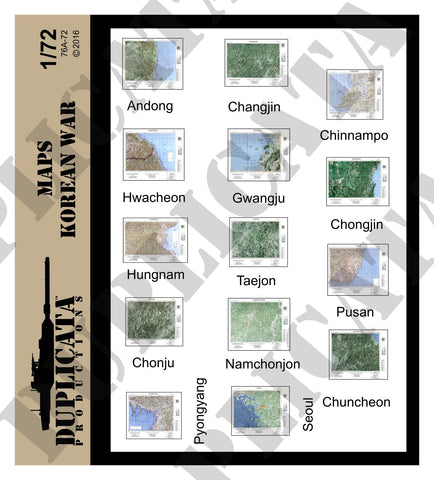 Maps - Korean War - 1/72 Scale - Duplicata Productions