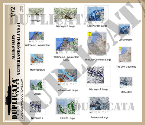 Allied Maps - The Netherlands (Holland) #1, WW2 - 1/72 Scale - Duplicata Productions