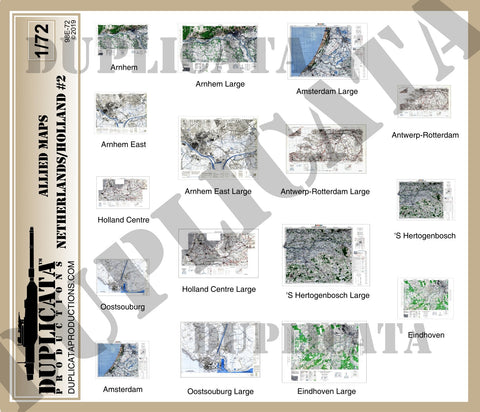 Allied Maps - The Netherlands (Holland) #2, WW2 - 1/72 Scale - Duplicata Productions