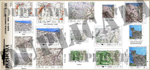 Allied Maps - Central Normandy, France #1 - WW2 - 1/35 Scale - Duplicata Productions