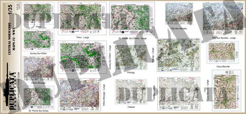 Allied Maps - Central Normandy, France #2 - WW2 - 1/35 Scale - Duplicata Productions