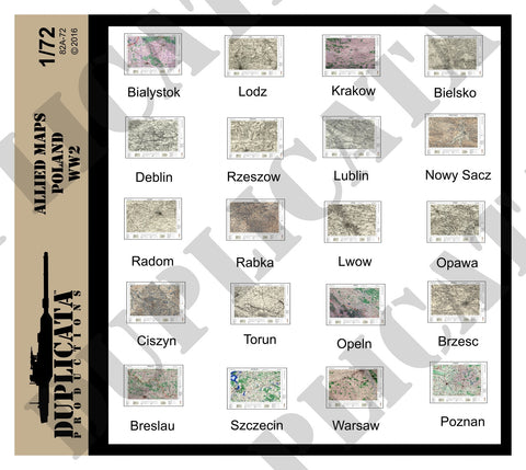 Allied Maps, Poland - WW2 - 1/72 Scale - Duplicata Productions