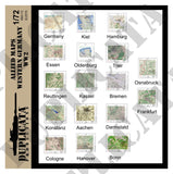 Allied Maps, Western Germany - WW2 - 1/72 Scale - Duplicata Productions