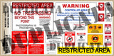 Military Base Warning Signs - 1/35 Scale - Duplicata Productions