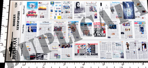 Modern Newspapers - 1/24 Scale - Duplicata Productions
