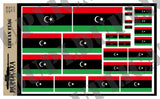 Libyan Flag - 1/72, 1/48, 1/35, 1/32 Scales - Duplicata Productions